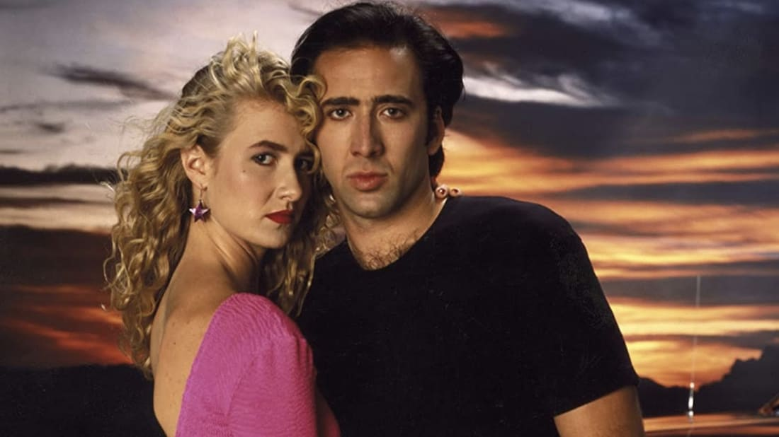 Laura Dern and Nicolas Cage in David Lynch's Wild at Heart (1990).