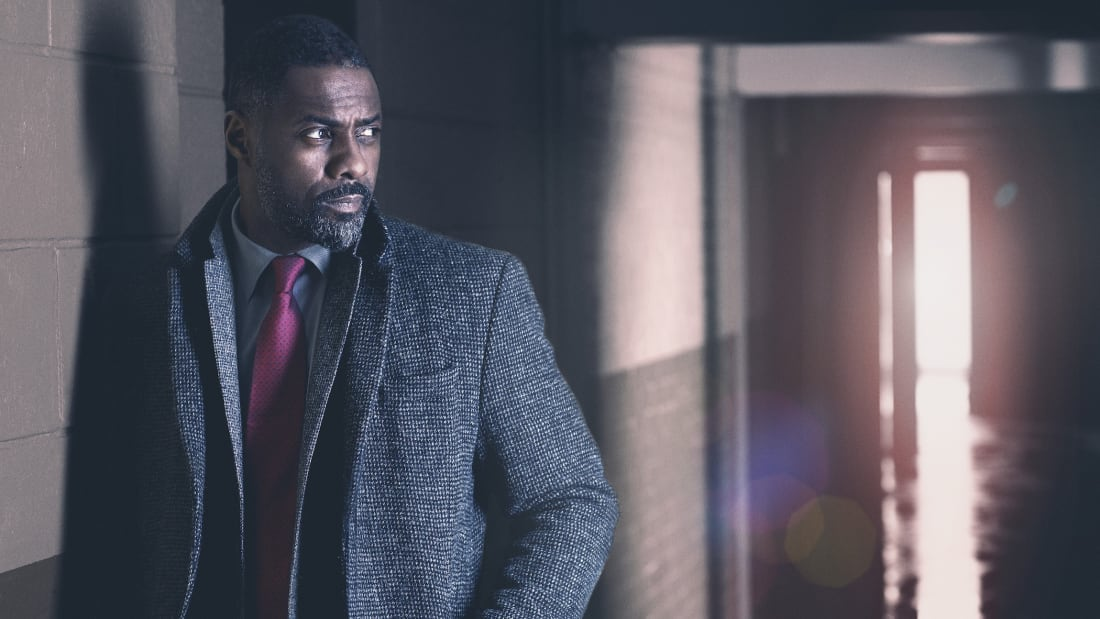 Idris Elba as DCI John Luther in Luther.