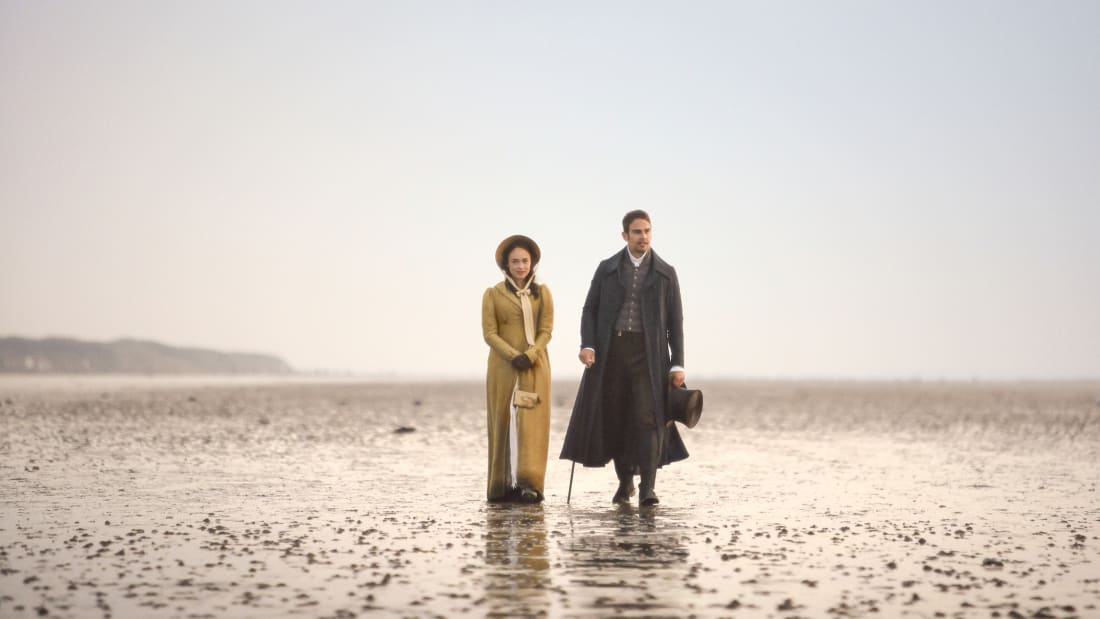 Rose Williams as Charlotte Heywood and Theo James as Sidney Parker in Masterpiece's adaptation of Jane Austen's Sanditon (2019).