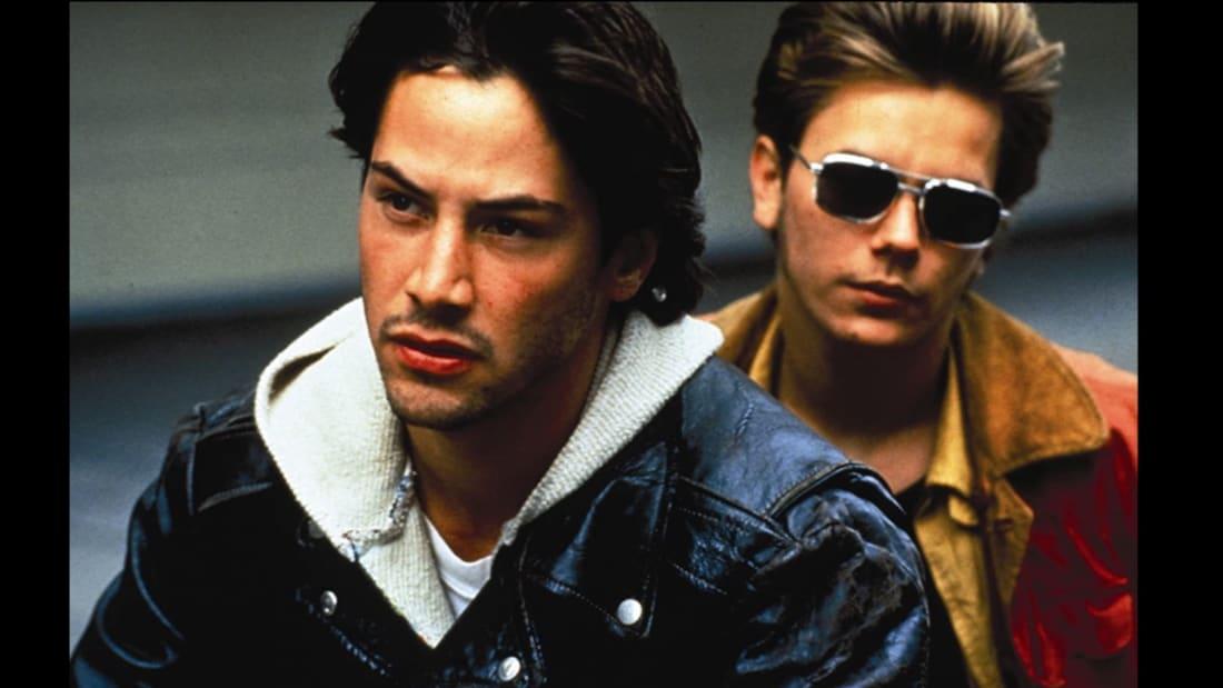 Keanu Reeves and River Phoenix star in Gus Van Sant's My Own Private Idaho (1991).