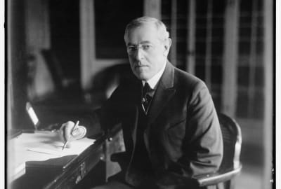 President Woodrow Wilson photographed in good health.