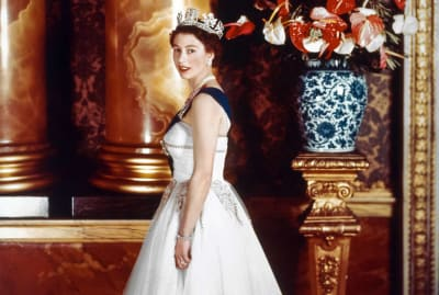 Queen Elizabeth II photographed by Cecil Beaton in November 1955.