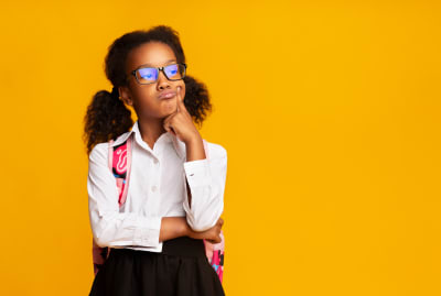 She's ready to captivate her classmates with a rousing debate on each vs. every.