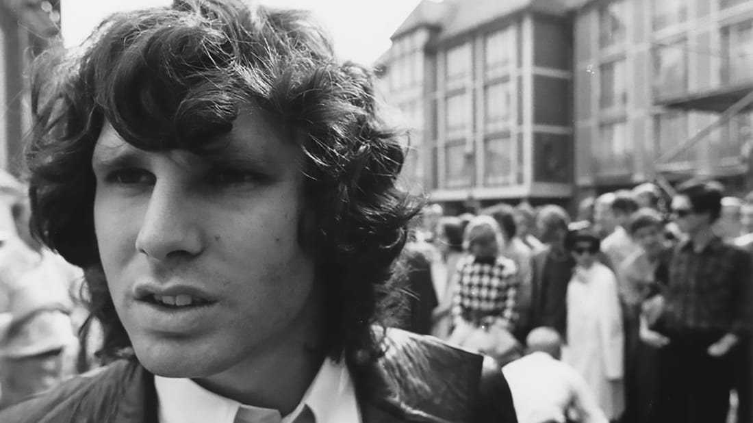 Jim Morrison of The Doors photographed in 1968.