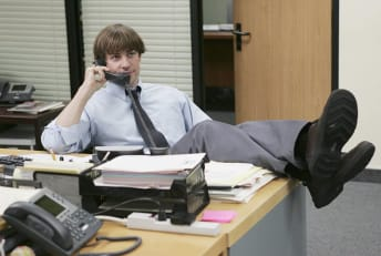 John Krasinski stars as Jim Halpert in The Office.