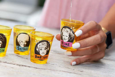 The Golden Girls, now in shot glass form.