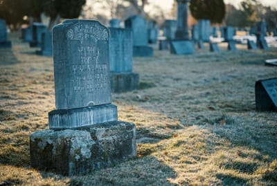 Tombstone symbols can sometimes be hard to interpret.