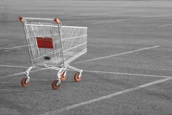 Abandoned shopping carts could be a sign of social dysfunction.