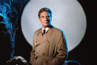 Robert Stack hosts the original Unsolved Mysteries.