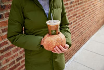 Panera has developed a novel way of insulating hands from chilly iced coffee.