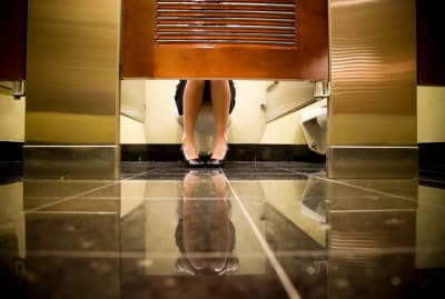 Public bathrooms are uncomfortable for a reason.