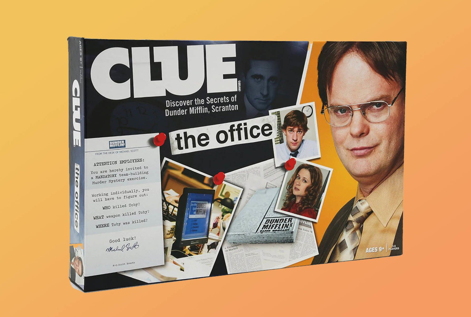 CLUE THE OFFICE EDITION BOARD GAME REPLACEMENT PARTS PIECES WEAPONS CARDS CHOOSE