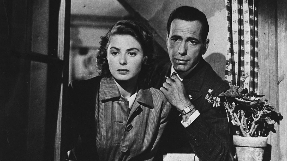 Ingrid Bergman and Humphrey Bogart in Casablanca (1942).