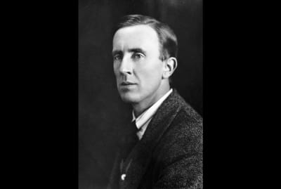 J.R.R. Tolkien photographed circa the 1940s.