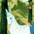 Mia Farrow and Alan Arkin in The Last Unicorn (1982).