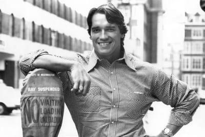 Arnold Schwarzenegger in 1977.