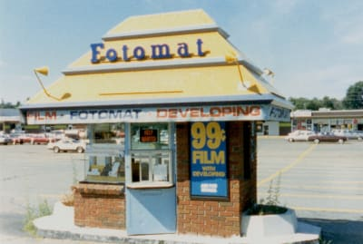 Fotomat locations promised speedy photo processing in the 1970s.