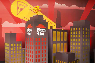 """Pizza Hut tried to up their game in 1985 with a high-rise """"Italian pie."""""""
