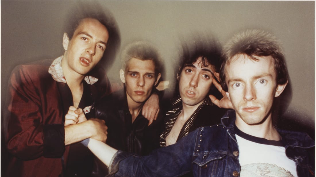 The Clash—Joe Strummer, Paul Simonon, Mick Jones, and Nicky 'Topper' Headon—in New York in 1978.