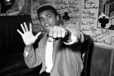 Muhammad Ali makes a prediction of how many rounds it will take for him to win an upcoming fight scheduled for June 1963. He was right.