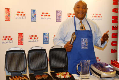 Professional boxer and culinary enthusiast George Foreman in 2001.