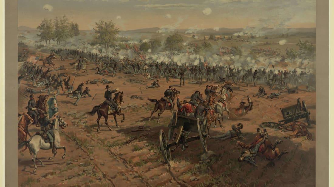 Hancock at Gettysburg by Thure de Thulstrup, 1887.