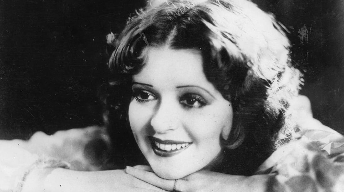 """Actress and """"It Girl"""" Clara Bow circa 1932."""