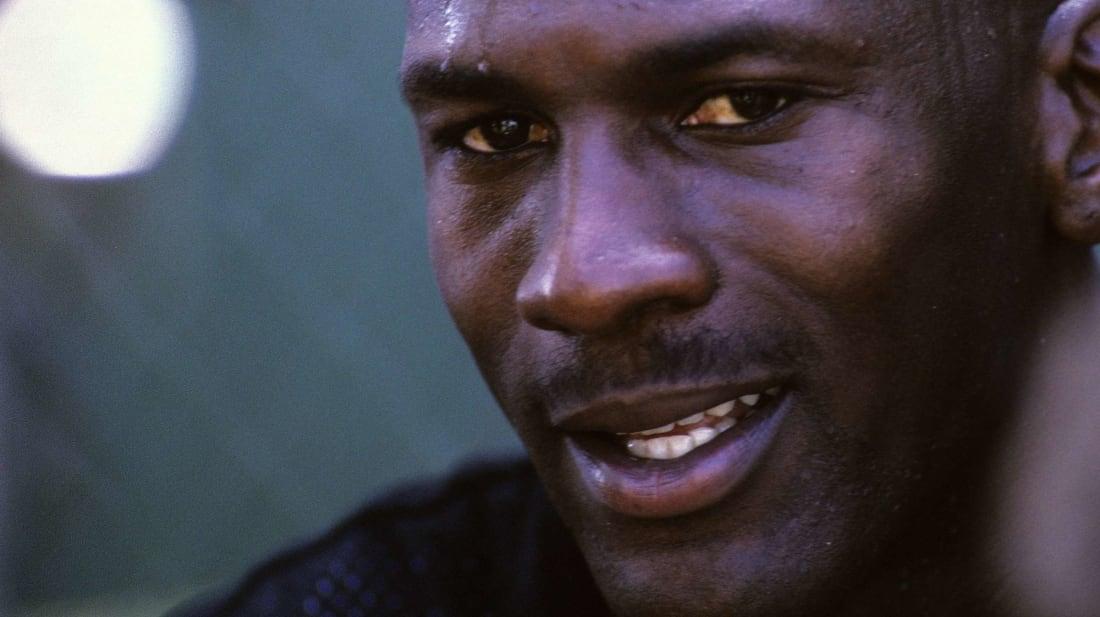 Michael Jordan gets ready to tuck into a McJordan Special.