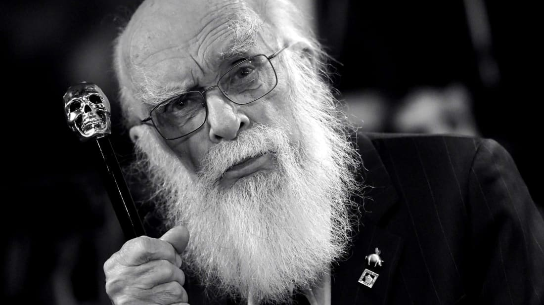 A photo of magician James Randi, the subject of the documentary An Honest Liar.