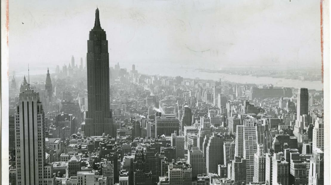 The Empire State Building had less competition in 1945.