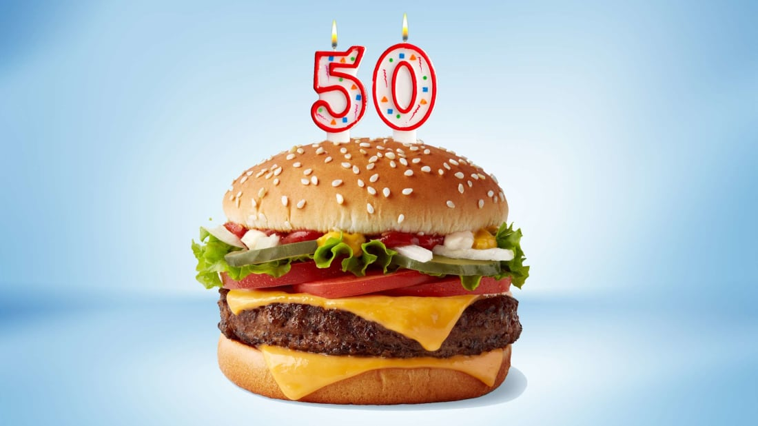 The McDonald's Quarter Pounder is turning the big 5-0 in 2021.