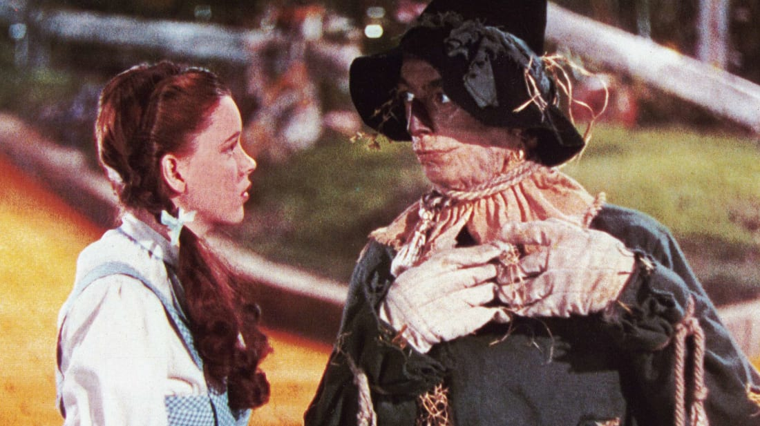 Judy Garland and Ray Bolger in the original Wizard of Oz (1939).