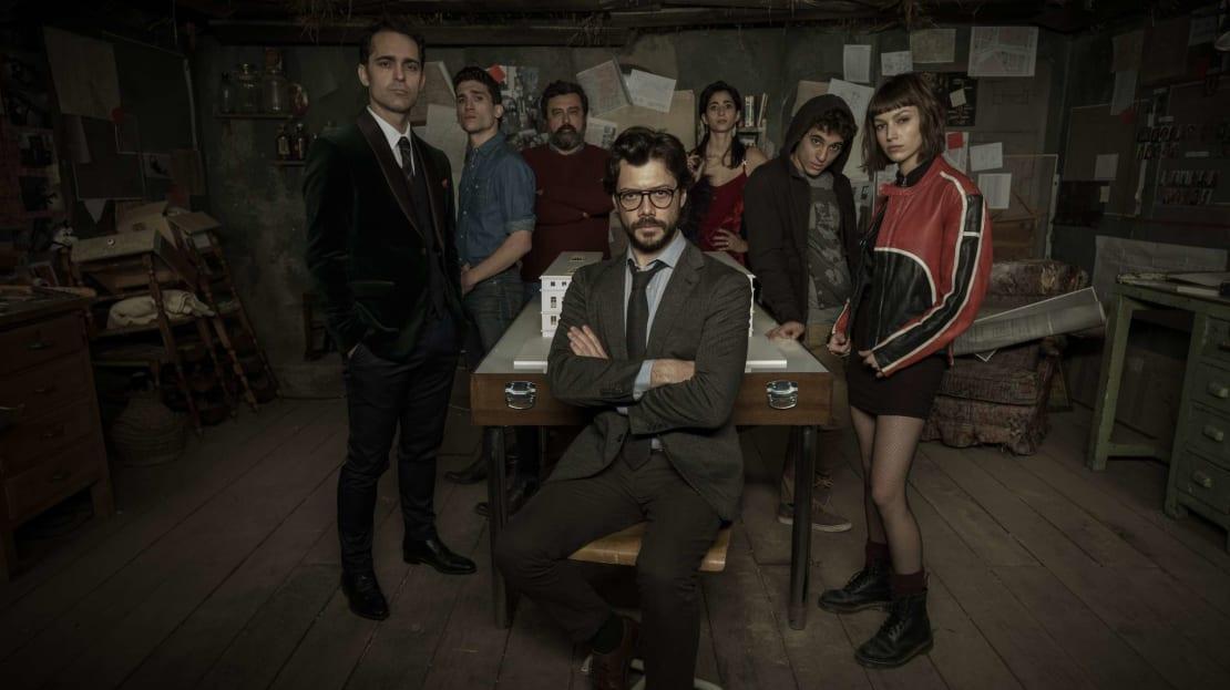 The cast of Netflix's Money Heist.