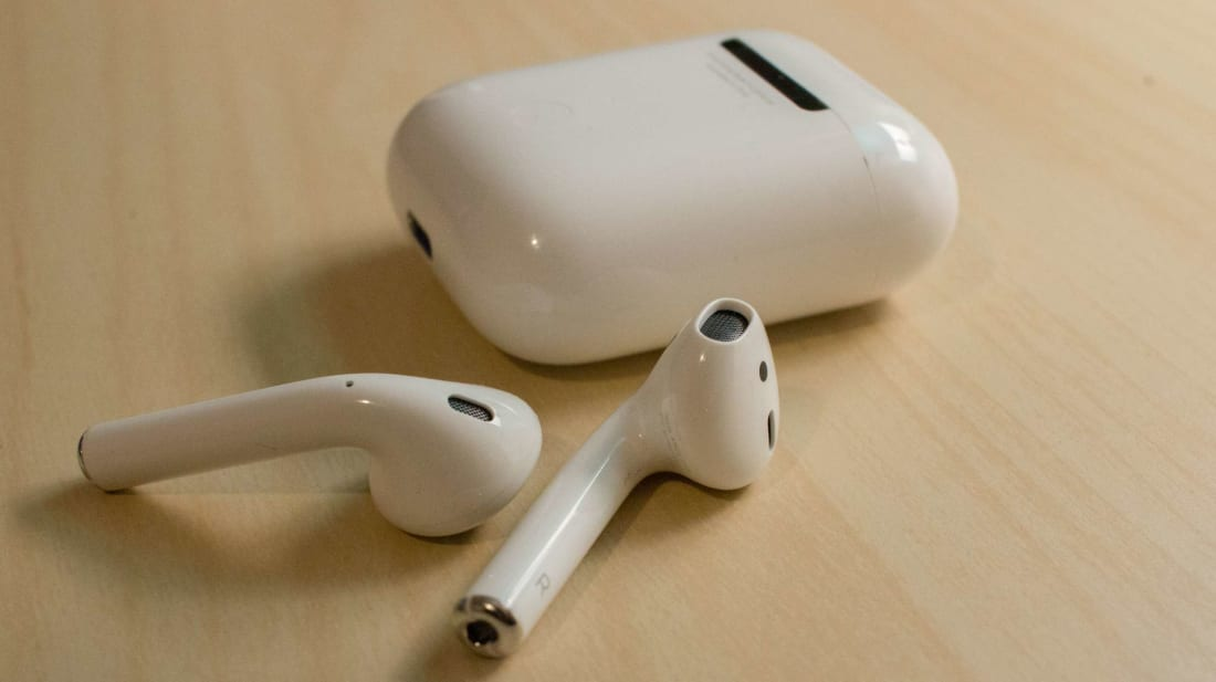 Apple AirPods, or a tiny gadget from a stormtrooper uniform?