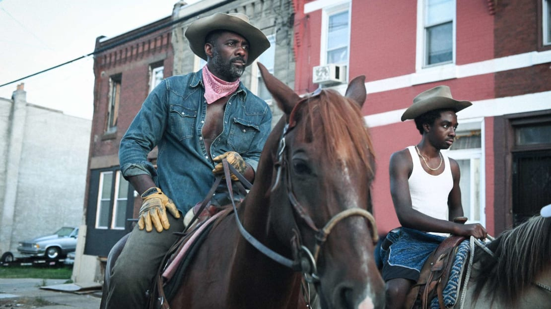 Idris Elba and Caleb McLaughlin star in Concrete Cowboy (2021).