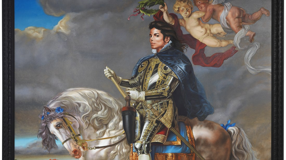 Equestrian Portrait of King Philip II (Michael Jackson) by Kehinde Wiley