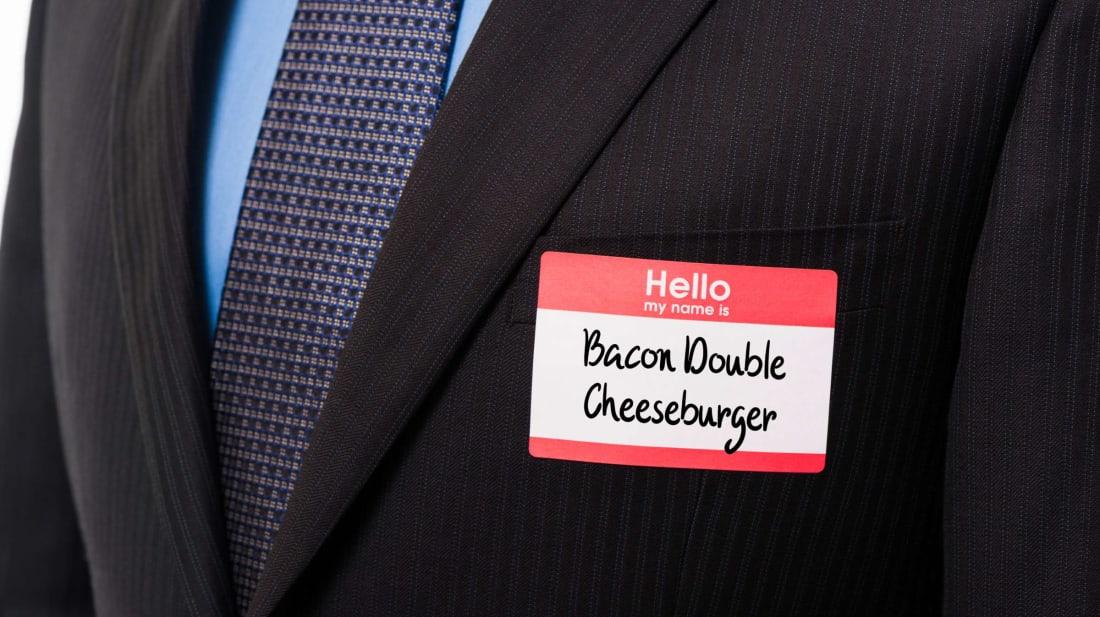 Nice to meet you, Mr. Cheeseburger.
