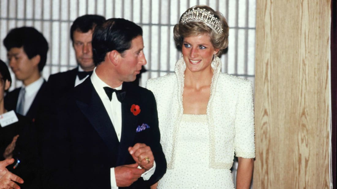 """Princess Diana wearing what she called her """"Elvis dress"""" on a visit to Hong Kong in 1989."""