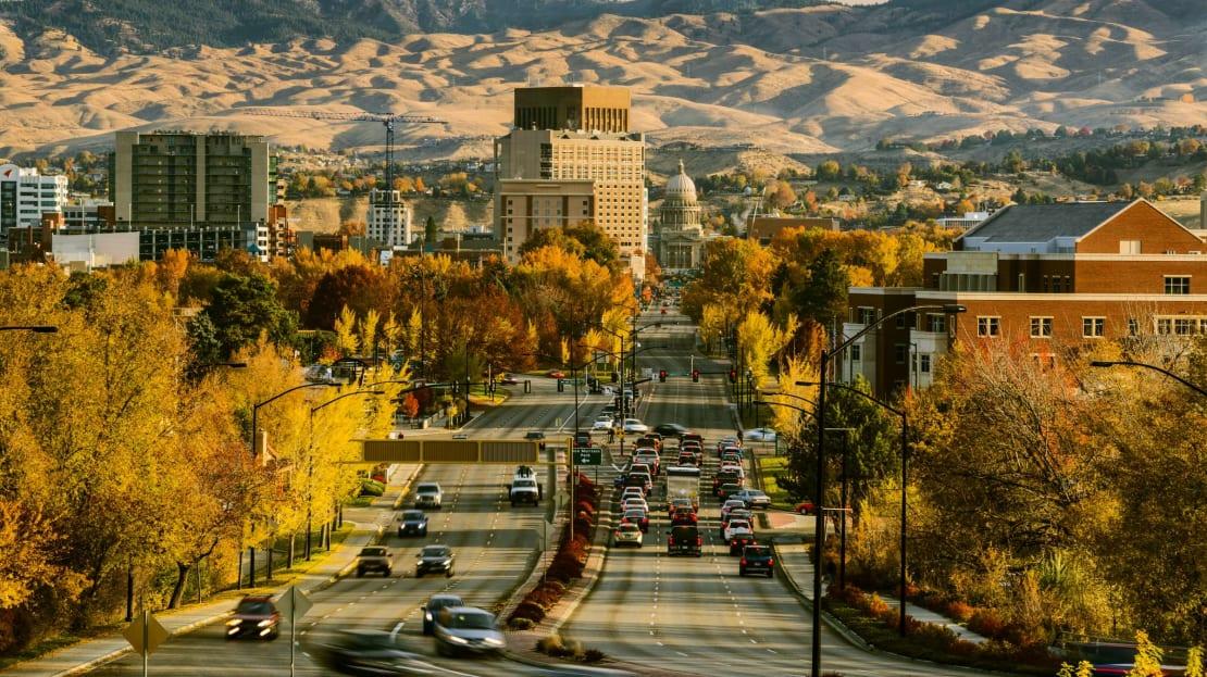 Capitol Boulevard in Boise, Idaho.