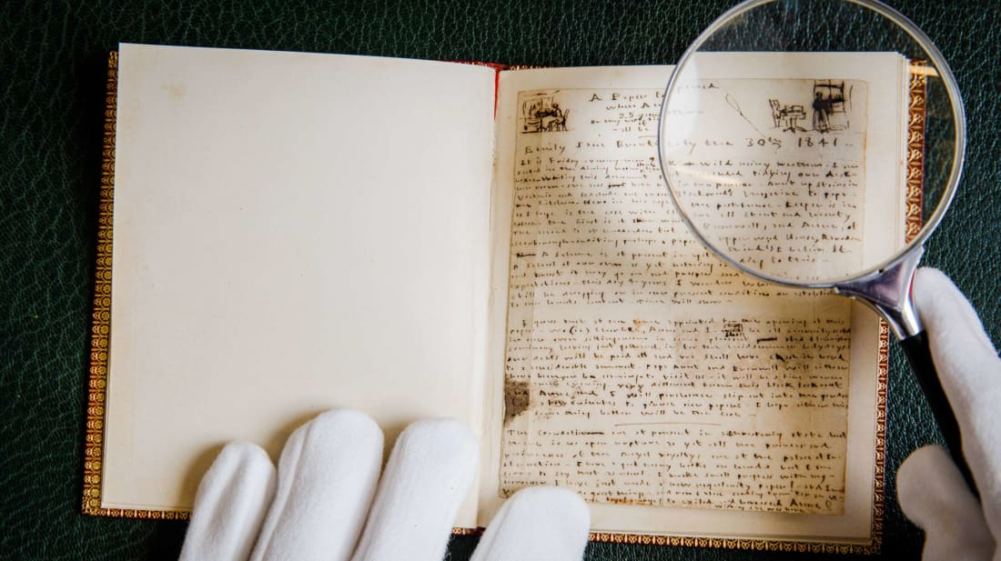 A birthday message for Anne Brontë written (and illustrated) by her sister Emily in 1841.