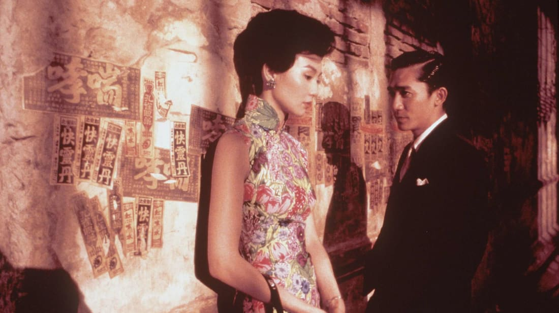 Maggie Cheung and Tony Leung star in Wong Kar-Wai's In The Mood For Love (2000).