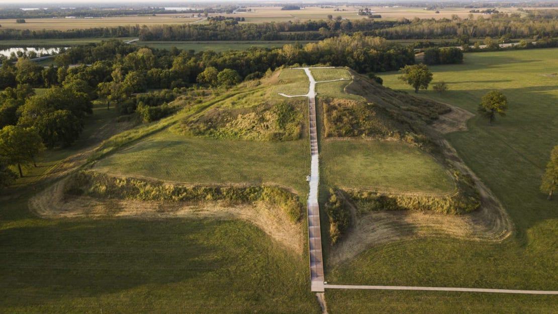Cahokia Mounds State Historic Site in Illinois was the location of the largest Mississippian Culture city before European contact.