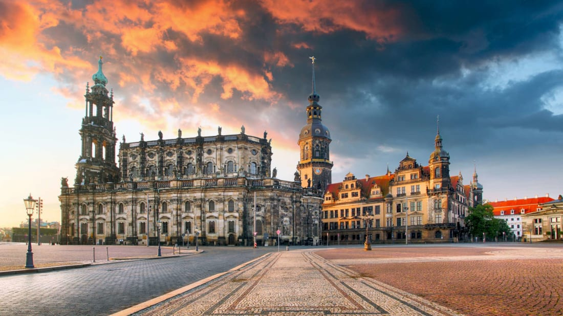 Dresden Castle in Dresden, Germany.