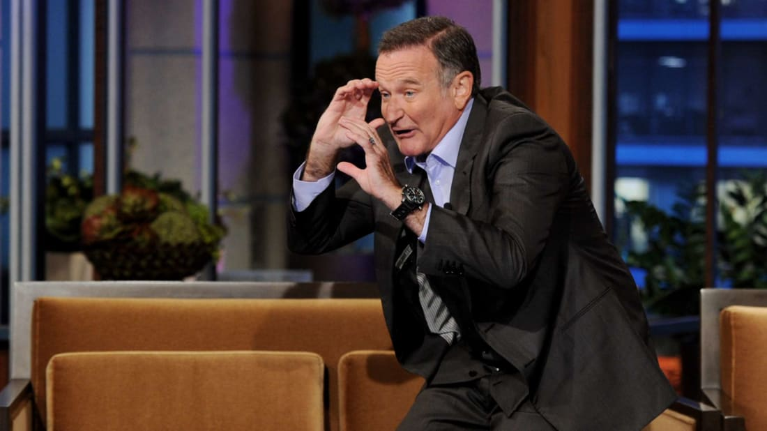 The late Robin Williams on The Tonight Show in 2011.