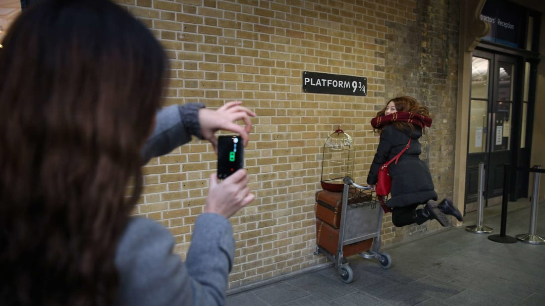 Getting to visit Platform 9 3/4 from your couch is a different kind of magic.
