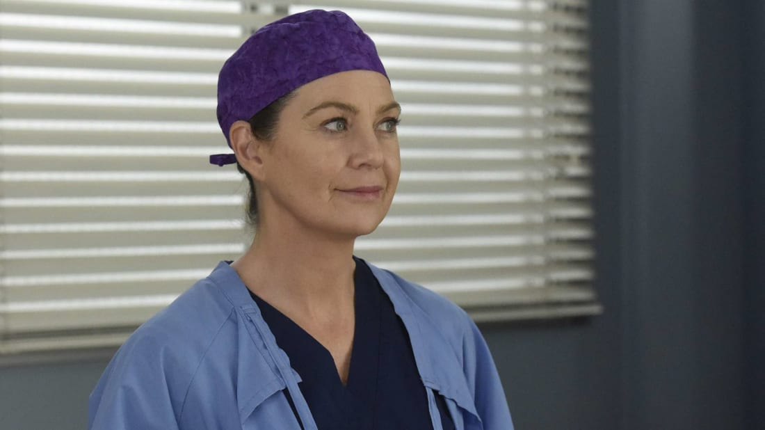 Ellen Pompeo as Meredith Grey in the latest season of Grey's Anatomy.
