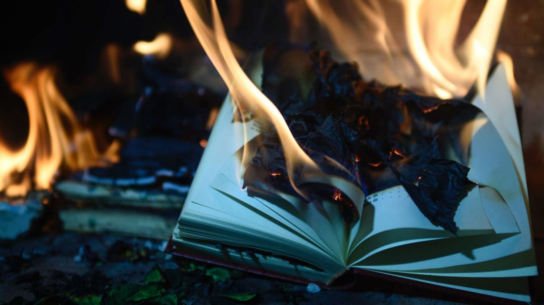 Burning books may kill coronavirus germs, but at what cost?