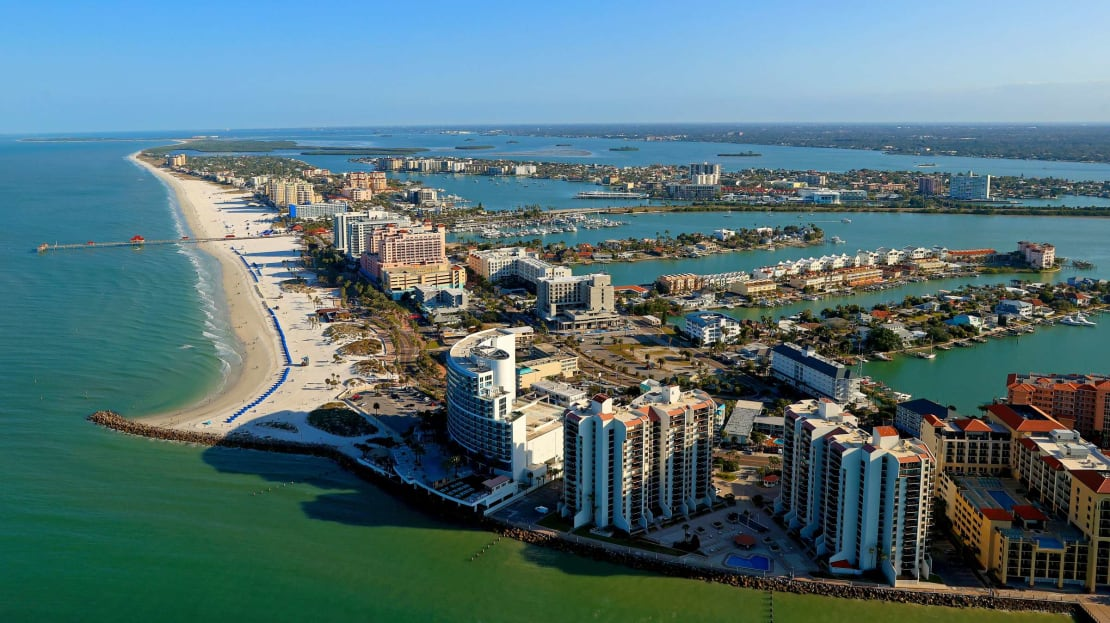 Clearwater, Florida, from above.