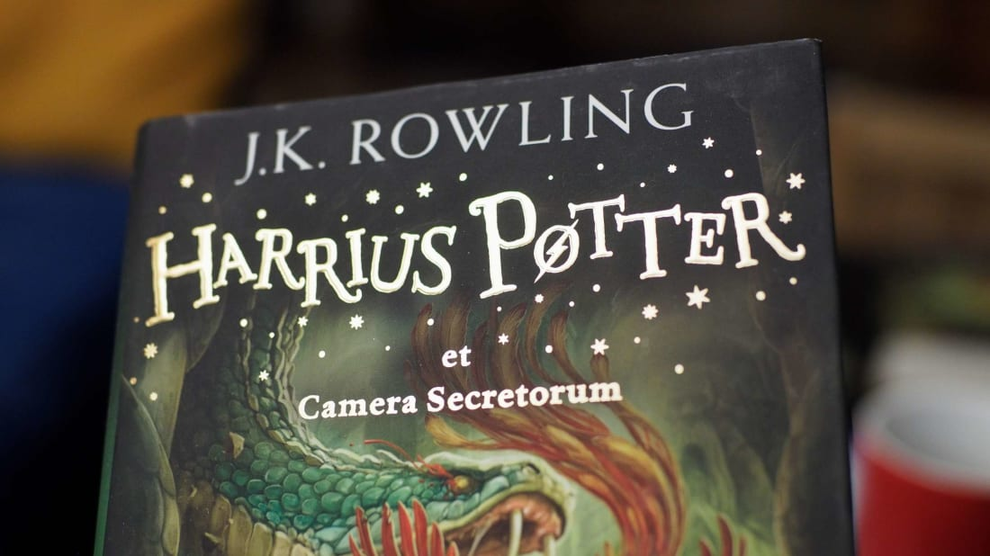 When it was translated into Latin, Harry Potter and the Chamber of Secrets became Harrius Potter et Camera Secretorum.