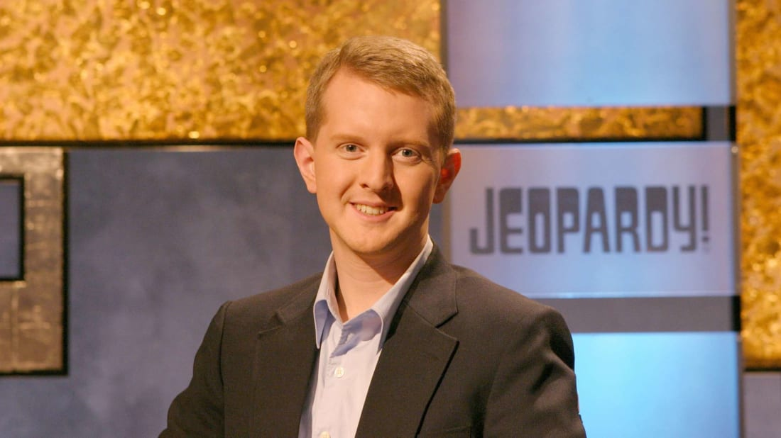 Ken Jennings on the Jeopardy! set.